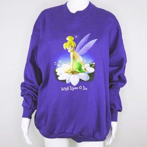 Disney Tinkerbell Wish Upon a Star Crew Sweatshirt